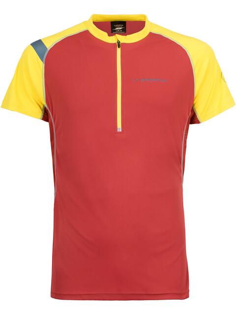La Sportiva Advance - Camiseta Running Hombre - amarillo/rojo
